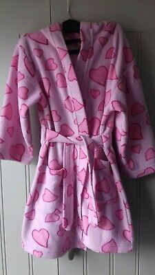 Age 4-5 Dressing Gown Pink Hearts