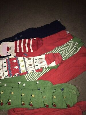 Girls NEXT Christmas Tights Collection Age 9-10 Years ⭐️