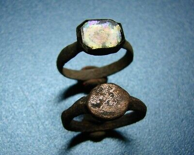 Ancient bronze childrens rings.  Middle Ages. Оriginal.