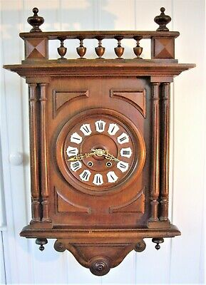 Original Antique French Library Wall Clock - Working Well