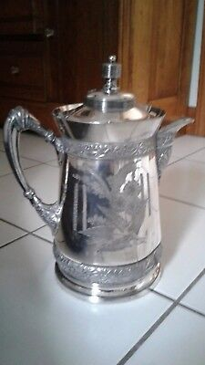 Antique Victorian Quadruple Plate Wilcox Silver Plate Co Pitcher - #387