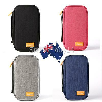 Travel Wallet Passport RFID Holder Credit Card Case Document Ticket Bag AU