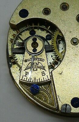 Longines Hunter Pocket Watch Movement 40.5 mm Ø Early Winged Hourglass Logo