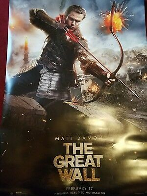 THE GREAT WALL 2016 27x40 DOUBLE SIDED LARGE MOVIE POSTER with MATT DAMON