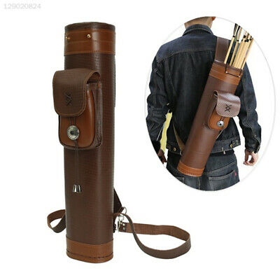 799A Cow Leather Archery Belt Bag Bow Arrow Outdoor Sports Brown