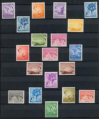 Seychelles 1954-61 Set of 19 Mint Light Hinged SG 174/188 Cat £80