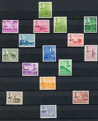 Seychelles 1952 Set of 15 Fine Mint Hinged SG 158/172 Cat £90