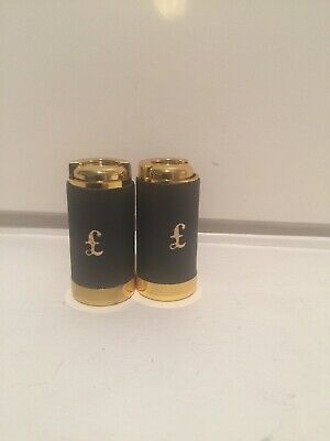 2X £1 Pound Coin Holder Gadget  Holds Up To 15 Pound Black & Gold