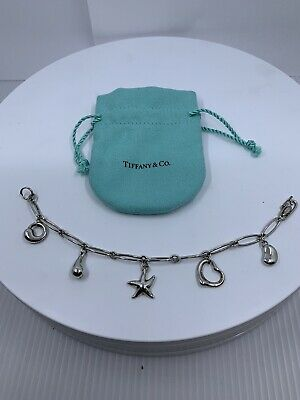 Authentic TIFFANY & Co. ELSA PERETTI  Sterling Silver 5 Charms Bracelet