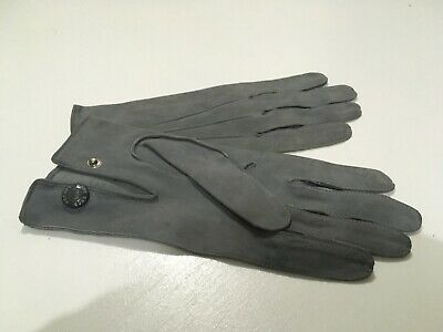 Vintage Superb Quality  Soft Grey Leather Gloves by  ' HOPE BROTHERS,  LONDON '