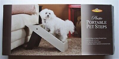 Pet Store 3 Step Portable Folding Plastic Sure Grip Steps For Pets Up To 75lbs