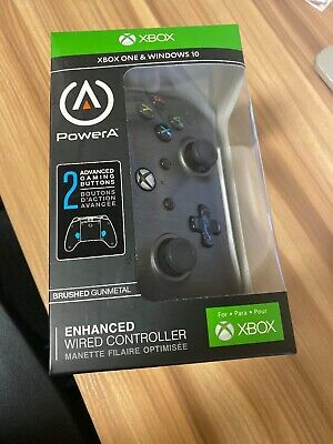 New XBOX One Power A Brushed Gunmetal Enhanced Wired Controller