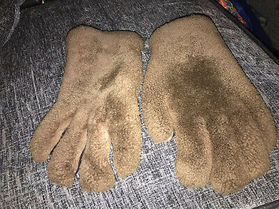 VINTAGE 100% SHEEPSKIN SHEARLING LEATHER GLOVES - medium