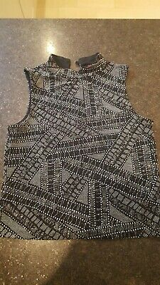 Girls Black & Silver Sparkly Top Age 12 13 Years Yd @ Primark