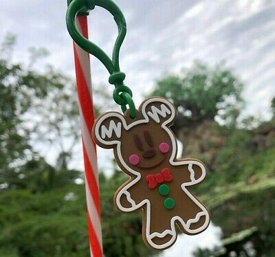 Disney Mickey's Very Merry Christmas Party 2019 Mickey Mouse Gingerbread Straw