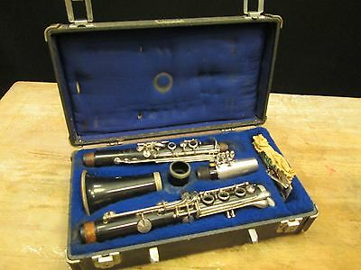 Vintage Custom Crafted LeBlanc Hartmann CLARINET HORN & CASE Normandy Resotone