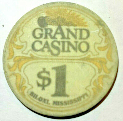GRAND CASINO Poker Chip $1 Dollar Tale of Capri Casino Biloxi MISSISSIPPI