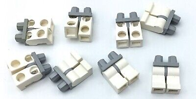LEGO LOT OF 20 WHITE LEGS AND BLACK HIPS MINIFIGURE LEGS PIECES PARTS