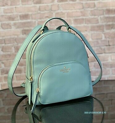 KATE SPADE NEW YORK JACKSON MD PEBBLED LEATHER BACKPACK SHOULDER BAG $359 Blue