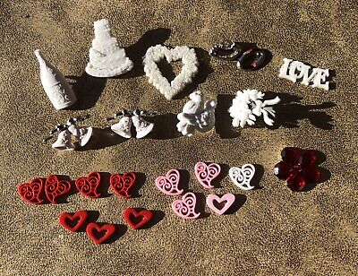 Hobbycraft Bulk Craft Items, Wedding, Love, Googley Eyes, Mini Keys