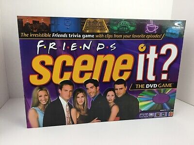 Friends scene it DVD trivia game with real tv show clips 2005 Screenlife Mattel
