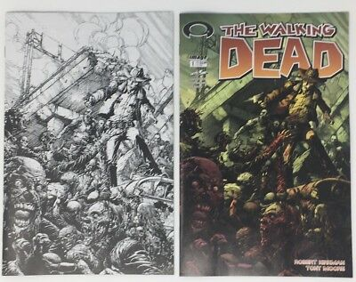 Variant x3 Copy Bundle LIMITED TO 500 Walking Dead #1 EC Exclusive 15th Ann