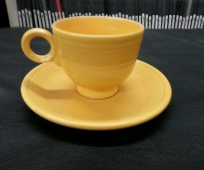 Vintage Fiesta Ware Cup/Saucer Gold Yellow Homer Laughlin Excellent Condition