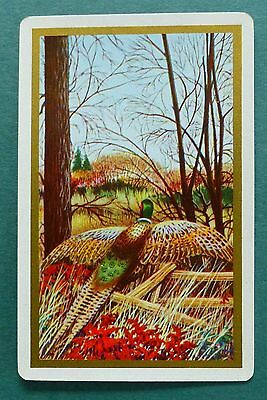 Playing Swap Cards  1 VINT GAME BIRD  NMD  PHEASANT ON LOG  MINT W313
