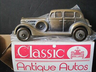 Vintage 1937 Packard V-12  Banthrico Cast Metal Car Coin Bank New In Box
