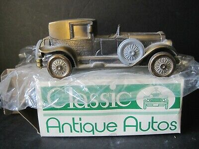 VTG 1927 Lincoln Brougham Banthrico  Car Coin Bank Of Lake County Ca. New In Box