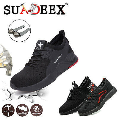 Mens Safety Steel Toe Work Shoes Indestructible Boots Outdoor Hiker Sneakers US