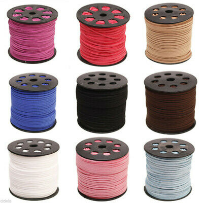 wholesale 100yd 3mm Suede Leather String Jewelry Making Thread Cords NEW/SHU