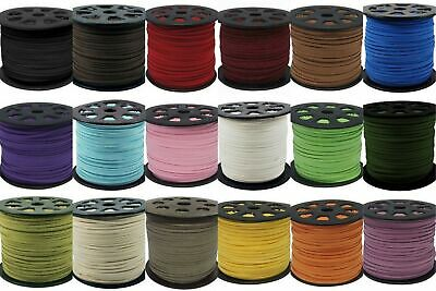 wholesale 100yd 3mm Suede Leather String Jewelry Making Thread Cords HOT