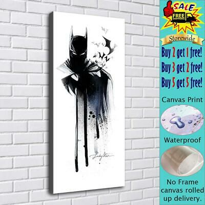 """16""""x34""""Batman HD Canvas prints Painting Home decor Picture Room Wall art Poster"""