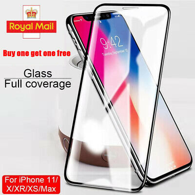 For New iPhone XS Max XR XS X 11 Pro Max Gorilla Tempered Glass Screen Protector