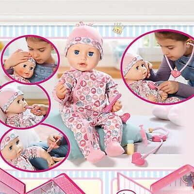 Zapf Creation Baby Annabell Milly Feels Better 43cm Interactive Doll *BRAND NEW