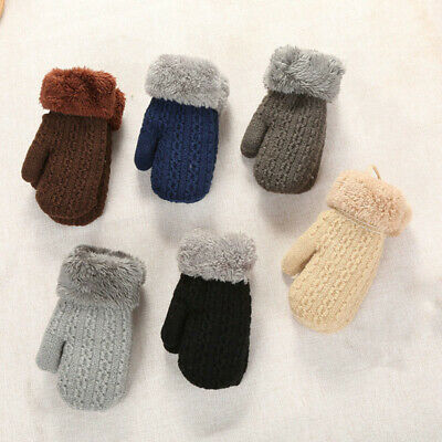 Baby Winter Knitted Gloves Warm Rope Full Finger Mittens for Toddler Kids