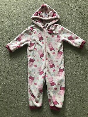 Girls Children's Peppa Pig Pink One Piece all in one Age 18-24 Months