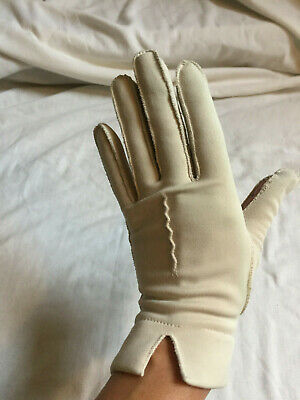 VINTAGE Grey Thermal Nylon Gloves - Dress Up Theatre Prop Size 7