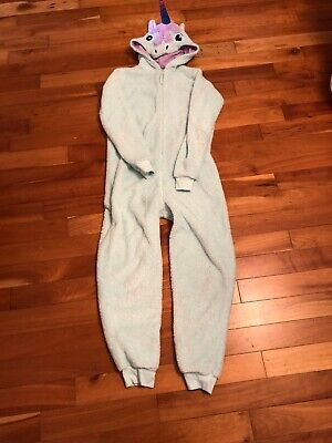 Unicorn One Piece Girl's Pyjamas Age 13 To 14 From Marks And Spencers