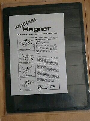 8 x HAGNER STAMP STOCK SHEETS -DOUBLE SIDED,  5 STRIPS - LOOSE LEAF PAGES