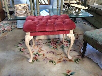 Vintage Dressing Table Stool. Boudoir Seat. Upcycling Project. Bedroom Chair.