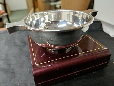 A ART DECO Silver Quaich CHESTER 1933S BLANCKISEE LTD  GOOD QUALITY