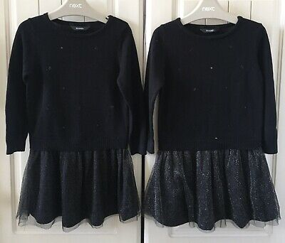 Gorgeous Twin Girls L/S Dresses From George At Asda Age 3-4 Years BNWOT