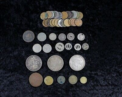 Miscellaneous U.S. Coin, Large Cent to Morgan & Peace Dollars