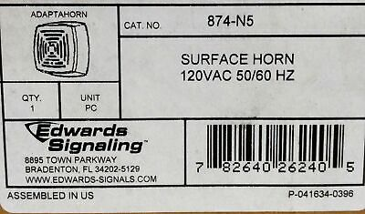 Edwards Signaling 874-N5 Surface Horn