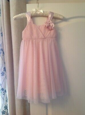 Girls Pink Sparkly H&M Dress Aged 4-5 Years