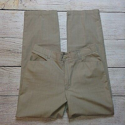 Riders Casuals Pants Size 12M Womens Plaid Tan 100% Cotton
