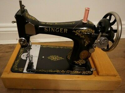 1918 Antique Singer sewing machine Model 128K with Rococo Decals