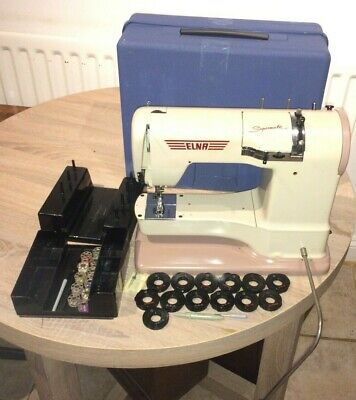 ELNA Supermatic FREE ARM Sewing Machine With Embroidery/decorative Stitch CAMS